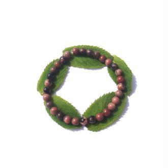 Bracelet Rhodonite sur fil élastique 19 CM à 21 CM environ