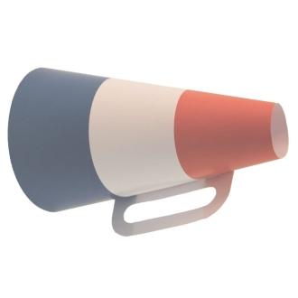 2 porte-voix cartonnés France 32 cm