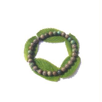 Bracelet Turquoise Africaine sur fil élastique 18 CM à 20 CM environ