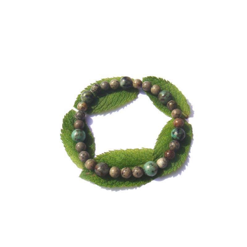 bracelet turquoise africaine sur fil lastique 19 cm 22. Black Bedroom Furniture Sets. Home Design Ideas