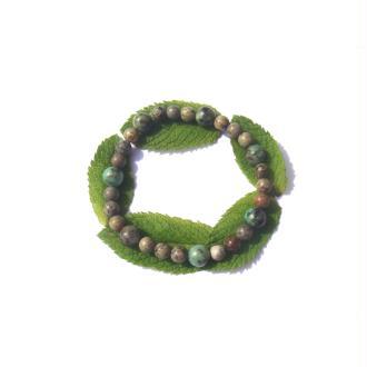 Bracelet Turquoise Africaine sur fil élastique 19 CM à 22 CM