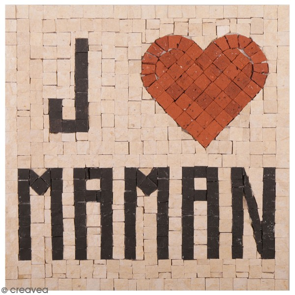 Kit Mosaïque - J'aime Maman - 20 x 20 cm - Photo n°1