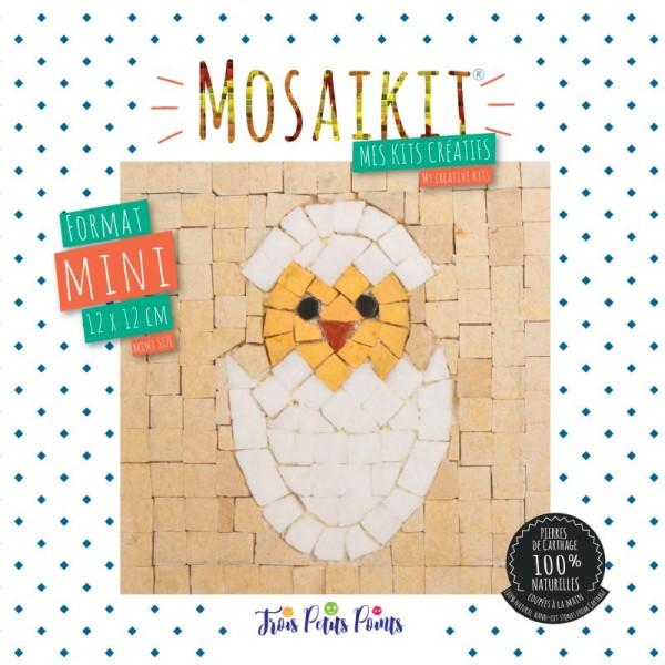 Kit mosaïque mini - Poussin - 12 x 12 cm - Photo n°1