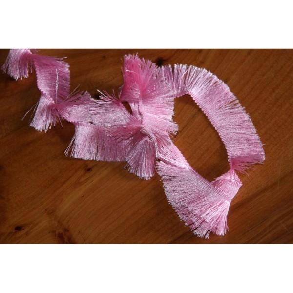 Galon avec de longues franges soyeuses , ruban de largeur totale 3cm - Photo n°2