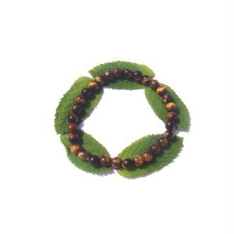 Bracelet Oeil de Tigre sur fil élastique 18,5 / 22 CM environ