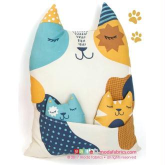 6 Chats en tissu à réaliser soi-même - Woof Woof Meow