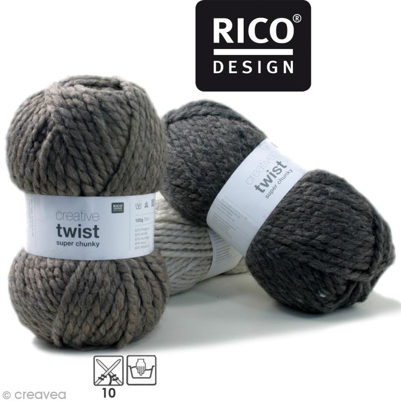 Laine Rico Design - Creative super twist chunky - 100 gr - 80% acrylique 20% alpaga - Photo n°1