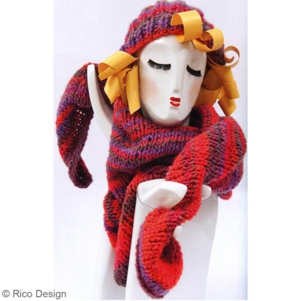 Laine Rico Design - Créative melange Big super chunky - 100 gr - 53% laine 47% acrylique - Photo n°4