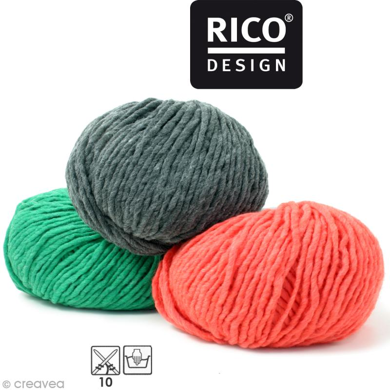 Laine Rico Design - Essentials super super chunky - 100 gr - 50% laine 50% acrylique - Photo n°1