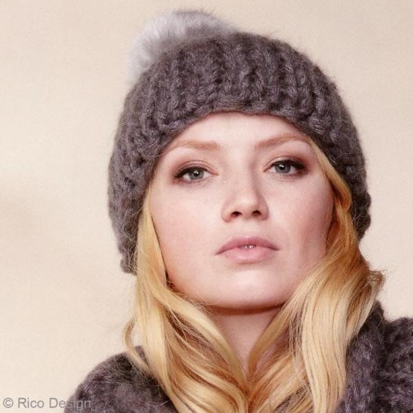 Laine Rico Design - Fashion gigantic mohair - 100 gr - 40% acrylique 30% mohair 30% polyamide - Photo n°4