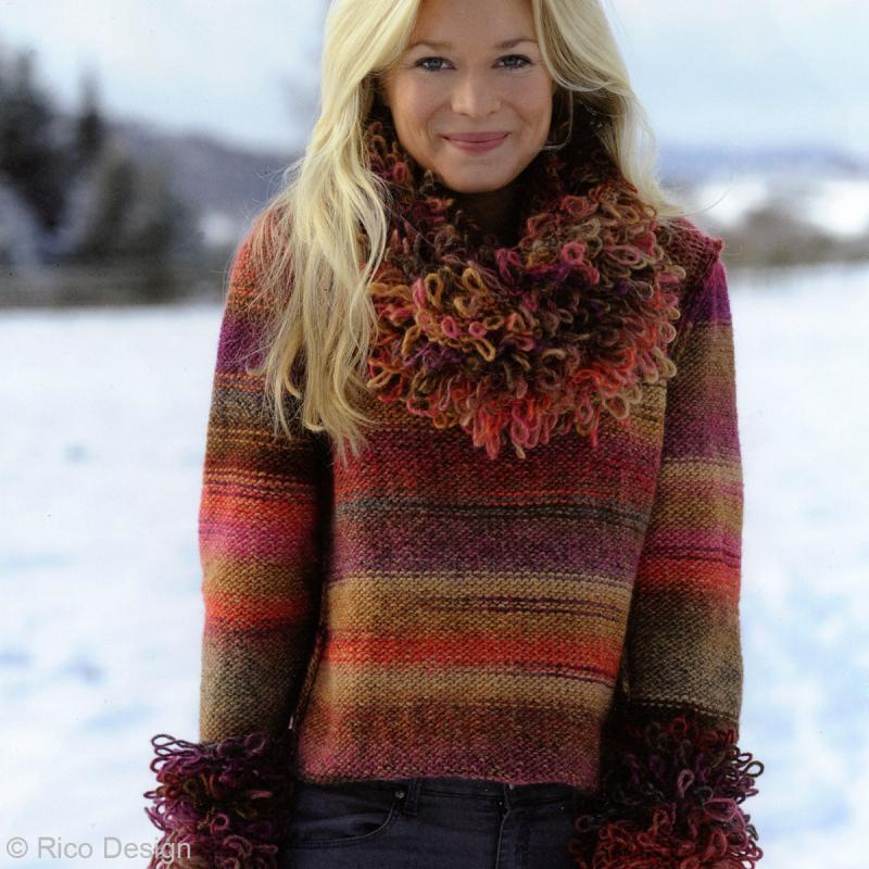 Laine Rico Design - Creative melange chunky - 50 gr - 53% laine vierge 47% acrylique - Photo n°3