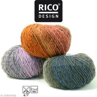 Laine Rico Design - Creative melange chunky - 50 gr - 53% laine vierge 47% acrylique