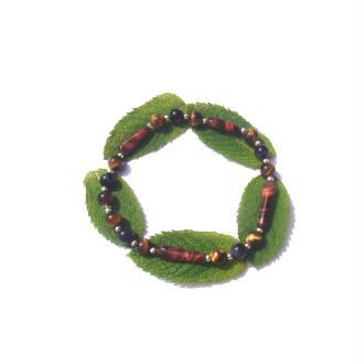 Bracelet élastique Oeil de Taureau, Oeil de Faucon et Oeil de Tigre 20 CM minim