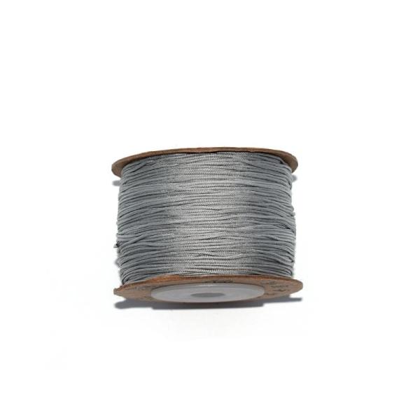 Fil nylon tressé 0,8 mm gris x1 m - Photo n°1