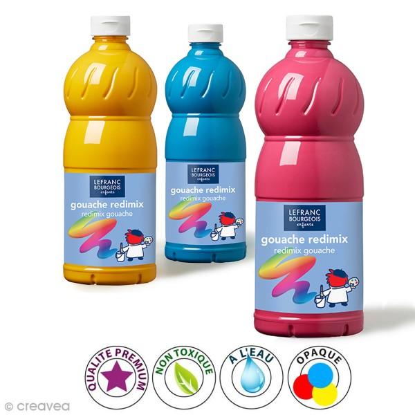 Gouache liquide Lefranc Bouregois Redimix - 1L - Photo n°1