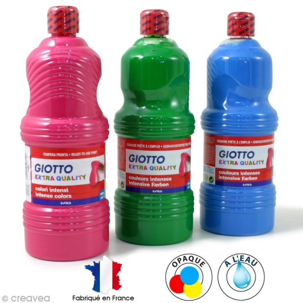 Peinture gouache Giotto paint  1 Litre - Photo n°1