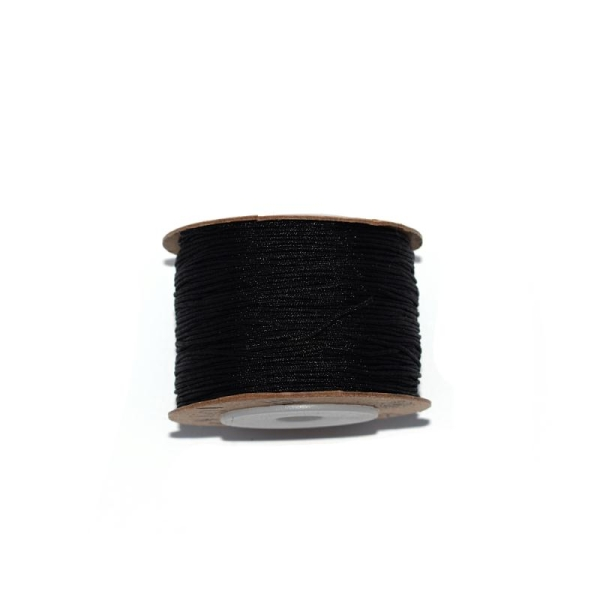 Fil nylon tressé 0,8 mm noir x1 m - Photo n°1