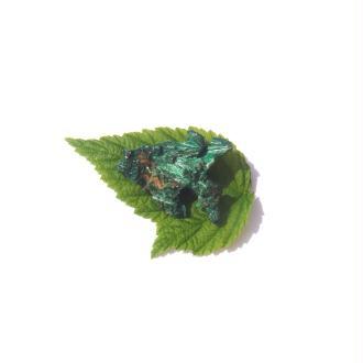 Malachite Fibreuse : Petite pierre brute 2,8 CM x 2 CM x 0,9 CM ( 5,2 grammes )