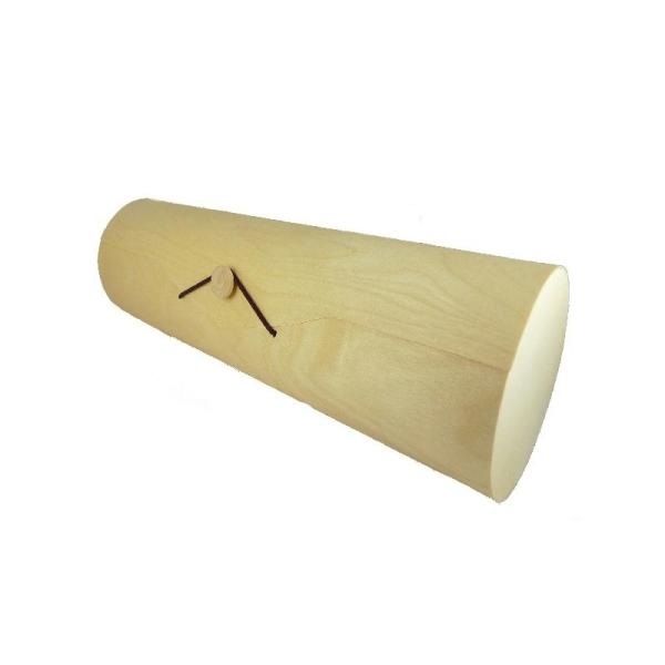 Etui cylindrique en bois souple naturel à décorer (33 x 9,5 cm) - Photo n°1