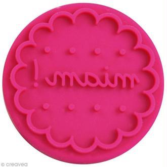 Pastille Miam pour tampon ScrapCooking - 6,5 cm