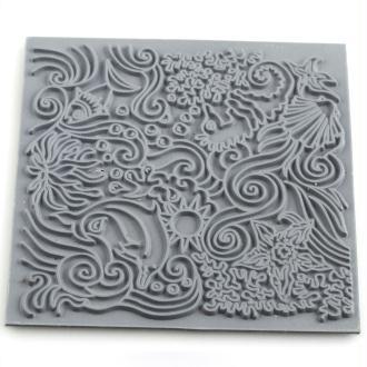 Plaque de texture pour pâte polymère Cernit (Plaque de texture Under the sea)