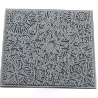 Plaque de texture pour pâte polymère Cernit (Plaque de texture Mandala)