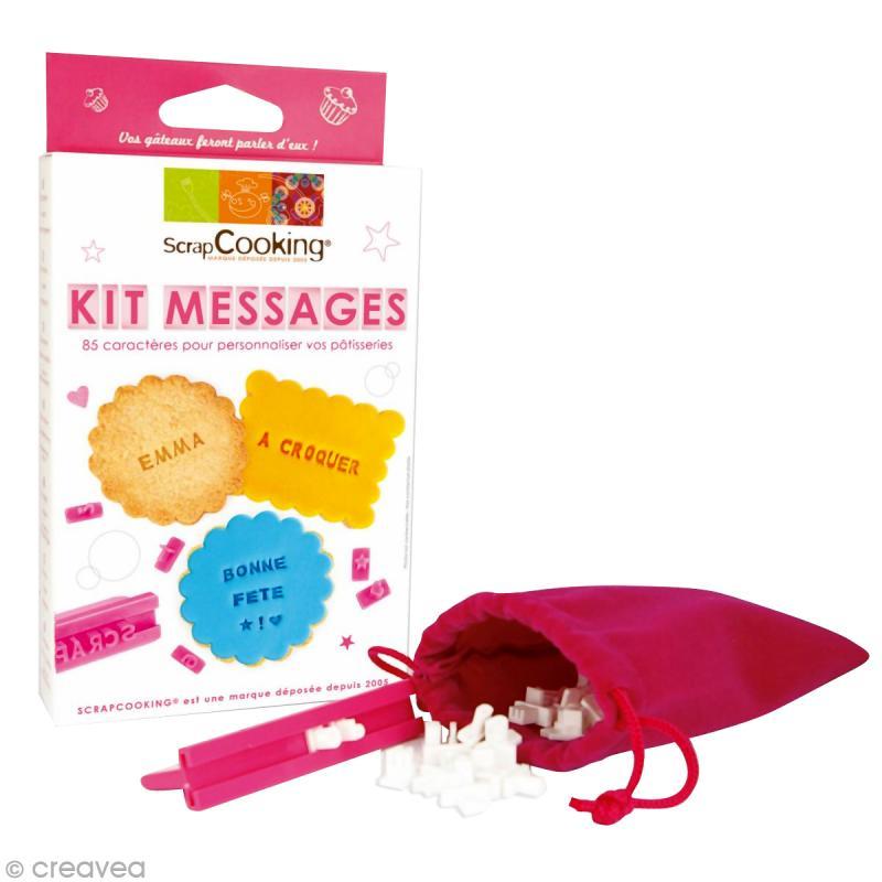 Kit cuisine cr ative messages et lettres coffret - Coffret cuisine creative ...
