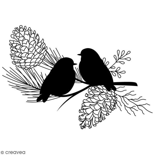 Tampon clear Artemio Misty Winter - Oiseaux - 1 pce - Photo n°1