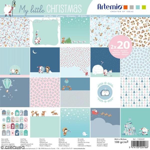Papier Scrapbooking Artemio - My little Xmas - 30,5 x 30,5 cm - 40 pcs - Photo n°1