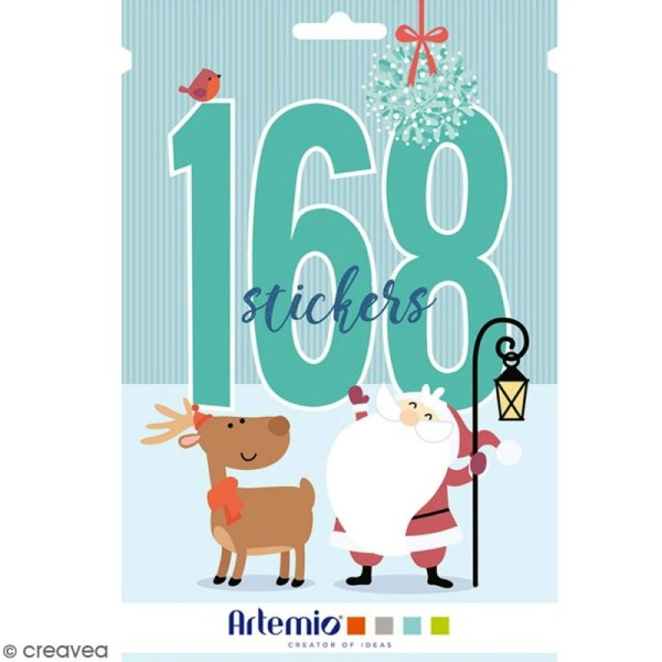 Carnet de stickers My little Xmas - Noël - 168 pcs - Photo n°1