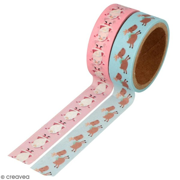 Masking Tape Artemio - My little Xmas - 1,5 cm x 5 m - 2 pcs - Photo n°1