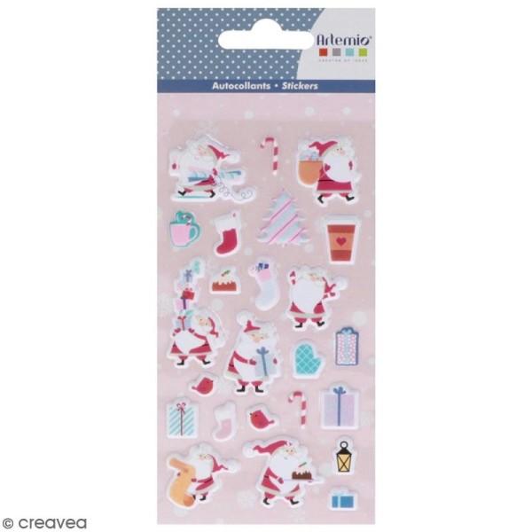 Stickers Puffies XL My little Xmas - Père Noël - 24 autocollants - Photo n°1