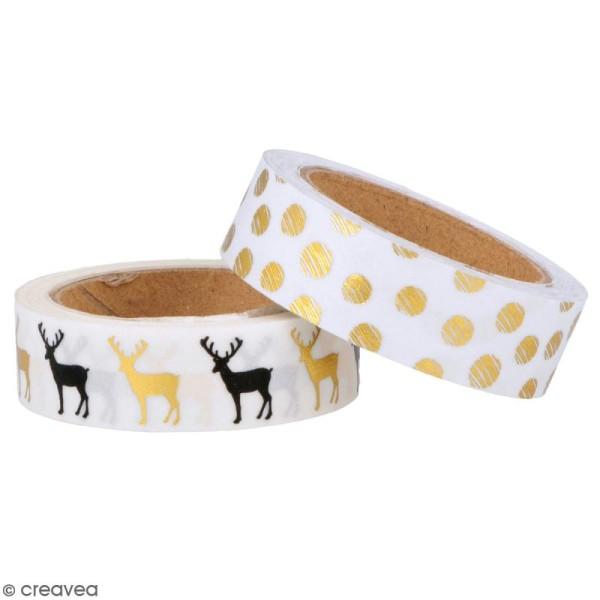 Masking Tape Artemio - Golden deer - 1,5 cm x 5 m - 2 pcs - Photo n°1