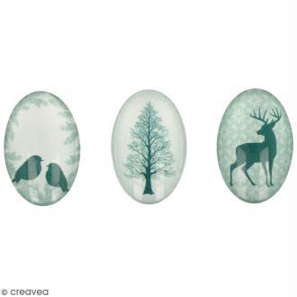 Cabochon Ovale Artemio - Misty Winter - 2 x 3 cm - 6 pcs