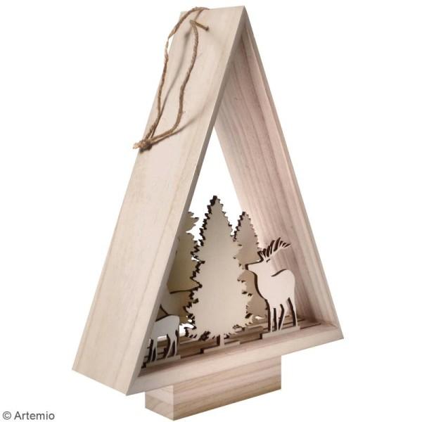 Décor en bois à monter - Sapin Misty Winter - 30 x 46,5 x 10 cm - 8 pcs - Photo n°2
