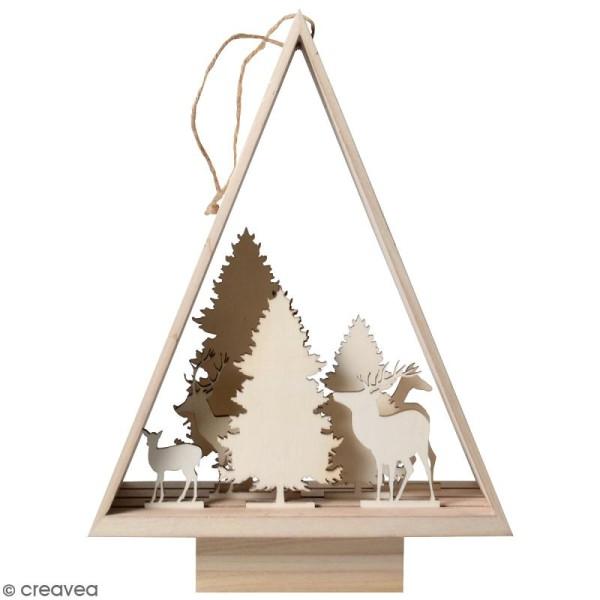 Décor en bois à monter - Sapin Misty Winter - 30 x 46,5 x 10 cm - 8 pcs - Photo n°1