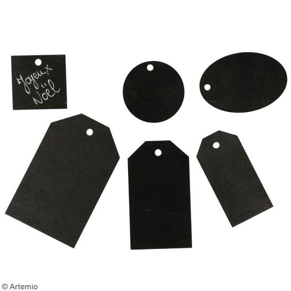 Set étiquettes noires en bois - 4 à 8 cm - 36 pcs - Photo n°2