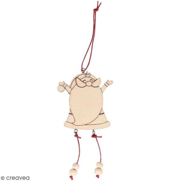 Pantin en bois à décorer - Père Noël - 6 x 12 cm - Photo n°1
