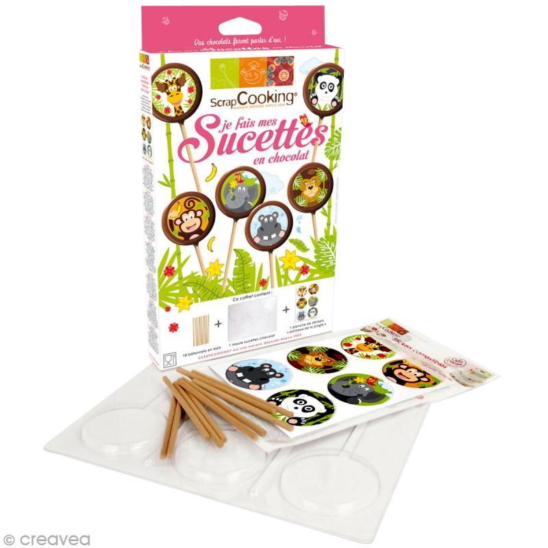 Kit cuisine cr ative je fais mes sucettes en chocolat coffret cuisine cr ative creavea - Coffret cuisine creative ...