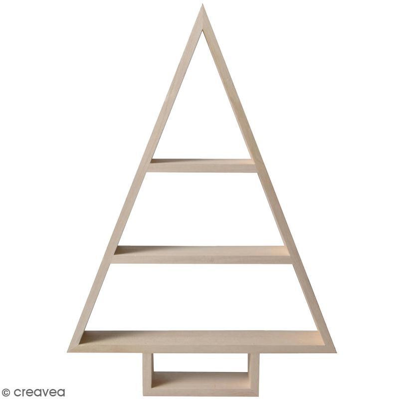 etag re sapin g om trique en bois brut 30 x 43 x 6 cm meuble d corer creavea. Black Bedroom Furniture Sets. Home Design Ideas