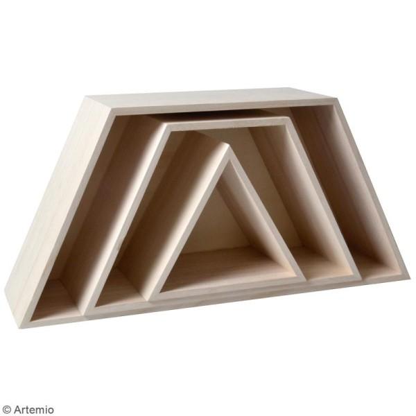 Etagère Sapin en 3 parties - 48 x 60 x 14 cm - Photo n°2