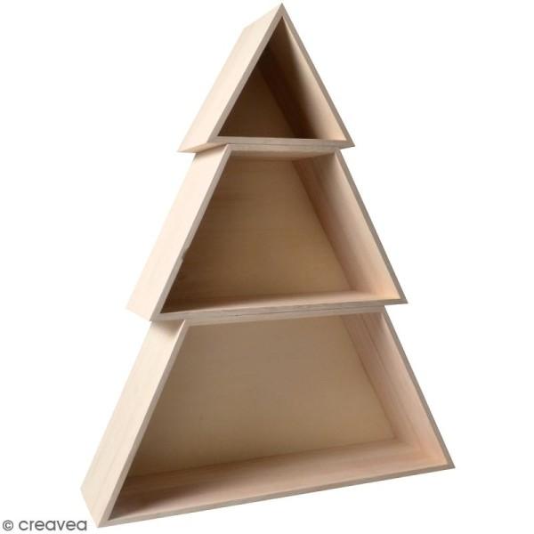 Etagère Sapin en 3 parties - 48 x 60 x 14 cm - Photo n°1