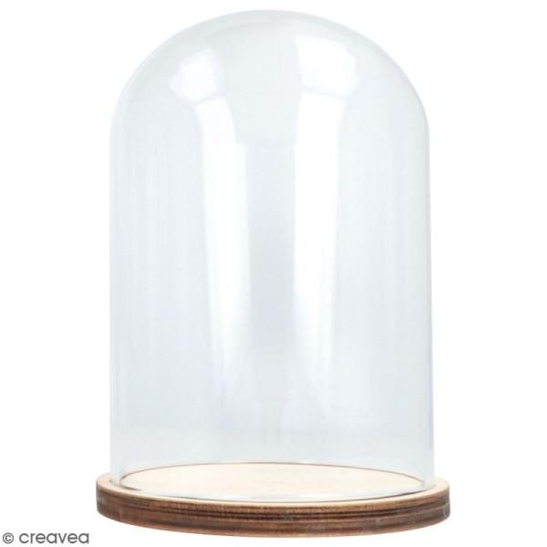 Cloche en verre avec socle - 11 x 16 cm - Photo n°1