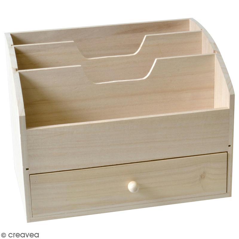 meuble range courrier en bois brut 28 x 21 x 18 cm meuble d corer creavea. Black Bedroom Furniture Sets. Home Design Ideas