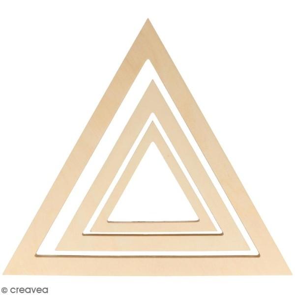 Forme en bois à décorer - Triangles - 30, 20, 13 cm - 3 pcs - Photo n°1