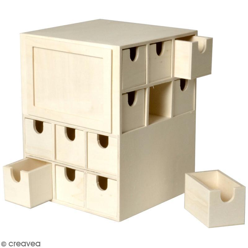 Calendrier de l 39 avent en bois d corer cube 17 x 17 x - Calendrier de l avent en bois a decorer ...