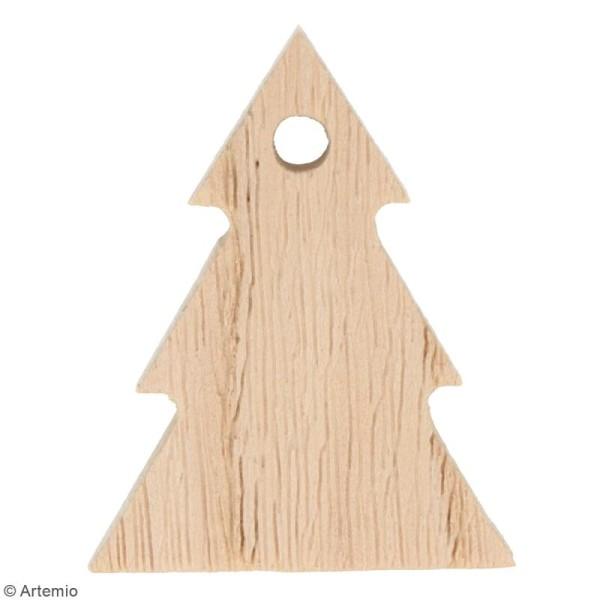 Guirlande sapins en bois à décorer - 10 pcs - Photo n°2
