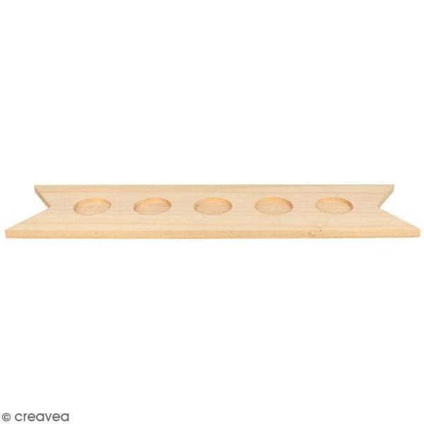 Centre de table en bois à décorer - Fanion - 40 x 10 cm - Photo n°1