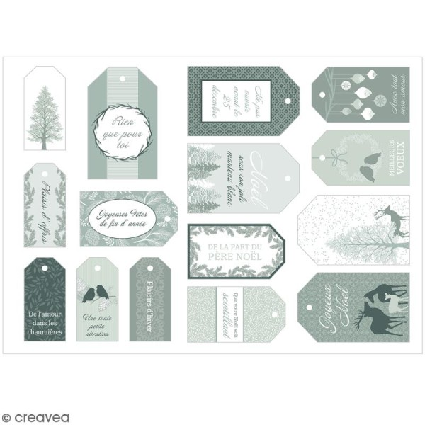 Die cut Artemio - Etiquettes Misty Winter - 15 pcs - Photo n°2
