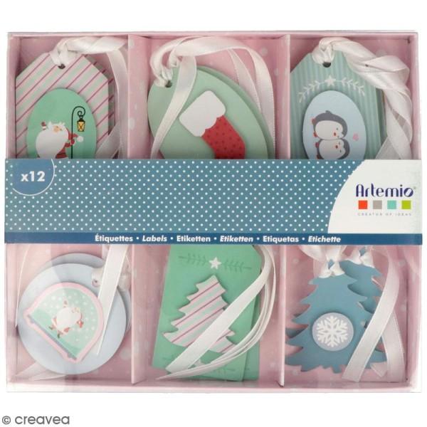 Set étiquettes 3D - My Little Xmas - 12 pcs - Photo n°1